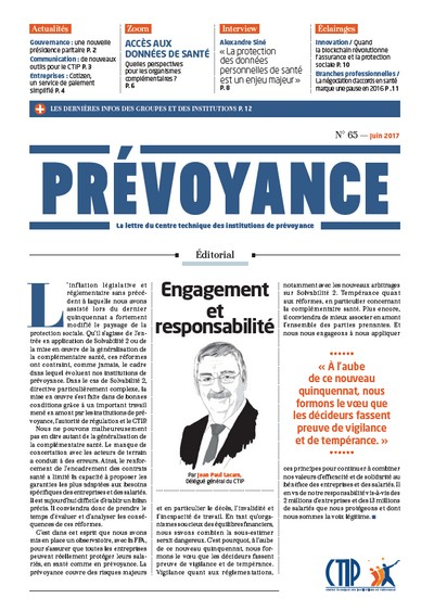 Prévoyance n° 65 – Juin 2017