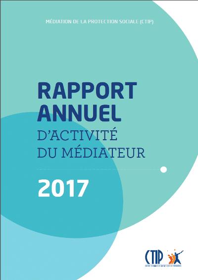 Rapport annuel d'activité du Médiateur 2017